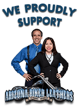 Husband and Wife Law Team proudly support Arizona Biker Leathers