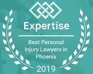 Best Personal Injury Lawyers in Phoenix 2019 Badge