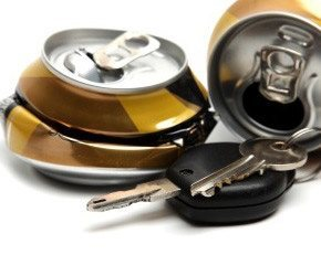 beer cans and car keys
